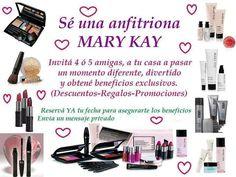 Te invito a poner fecha y hora a tu fiesta Mary Kay llamando al 1558835977