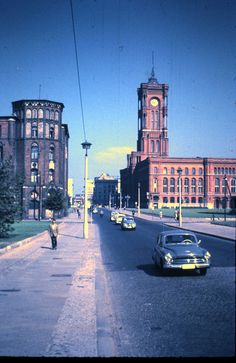 Rathausstrasse and Rotes Rathaus (Red Town Hall), East Berlin, 11 September 1959 | von allhails | Flickr