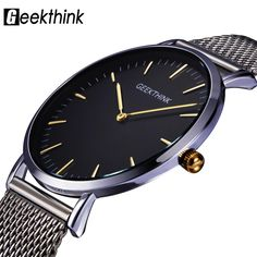 GEEKTHINK Men's Top Luxury Brand Japan quartz-watch stainless steel Mesh strap ultra thin. #watchoftheday #watches #fashion #shopping #gift #menswatch #wristwach #style #luxury
