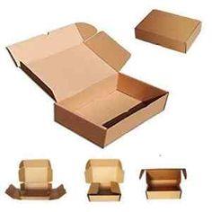 a 50 cajas de carton automontables para envios postales embalaje 165x9x25cm