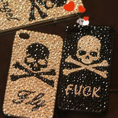 $11.7 iphone case with bling bling skull from zzkko.com... cute