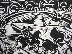 Pablo Picasso linocut (detail)