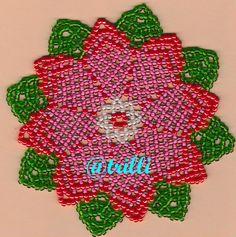 fiore rosa Beadwork, Beading, Beaded Bags, Bead Weaving, Doilies, Christmas Lights, Helmet, Create, Jewelry