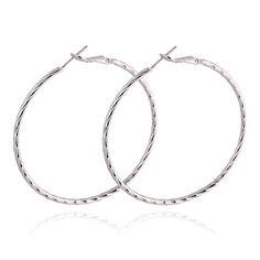 18K Gold Platinum Galvanized Earrings white