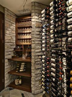 Wine cellar - wall storage detail