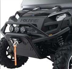 Polaris Ranger Pre-Runner Front Brushguard. Solid 2-Inch Diameter. 2876980-521