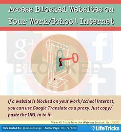138 best websites hacks tricks and tips images on pinterest websites access blocked websites on your workschool internet ccuart Images