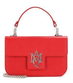 Rote Schultertasche aus Leder von Alexander McQueen
