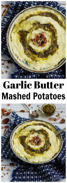 Garlic Butter Mashed Potatoes Recipe Side Dish From unicornsinthekitchen.com