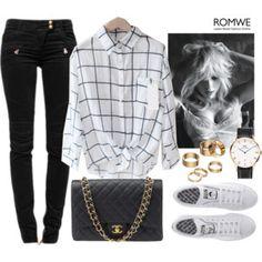 Romwe Plaid Shirt