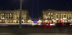 Madeleine Paris at night, view from concorde plaza