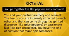 Which Two Foods Are You And Your Partner?