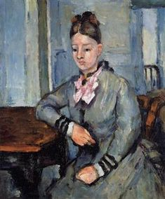 Madame Cezanne Leaning on a Table - Paul Cezanne - 1873