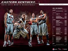 sports graphic design for 2010-2011 EKU womens basketball poster
