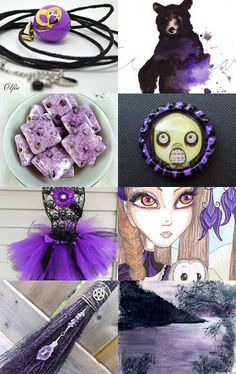 Purple and Black by Chris on Etsy--Pinned with TreasuryPin.com