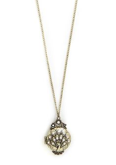 Aviary Fond Memory Necklace. Hold your memories close to your heart by capturing them in this ornate and elegant pendant! #gold #modcloth