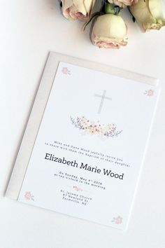 Boy or Girl Baptism Invitation Christening by ParadiseInvitations
