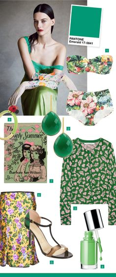 TOUCH this image: #Pantone #Green by #VOGUE #emerald #fashion #style #seasonal