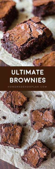 Ultimate Brownies! If you're looking for a go-to brownie recipe to add to your baking arsenal, I guarantee this is the BEST brownie recipe out there, hands down! | http://HomemadeHooplah.com