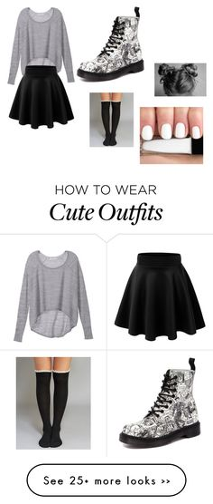 """cute fall outfit"" by bohochic-813 on Polyvore featuring Victoria's Secret, Dr. Martens and Wet Seal"