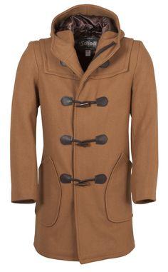 Schott Duffle Coat in Chestnut