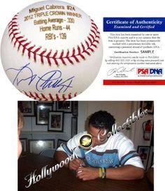 1e62b95d9 Miguel Cabrera Autographed Laser Engraved Baseball (PSA)