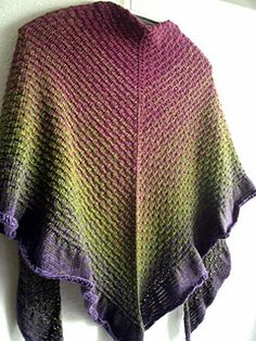 A Walk in a Cottage Garden Shawl - free pattern. I would love to do this in green! :)