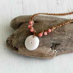 Beaded Surfer Necklace Hawaii Handmade Jewelry Summer Beach