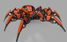 Robot Spider is a high quality model to add more details and realism to your rendering projects. Detailed enough for close-up renders. Originally modelled in Cinema Robot Concept Art, Armor Concept, Cyberpunk, Animal Robot, Spider Robot, Science Fiction, Arte Robot, Cool Robots, Horizon Zero Dawn