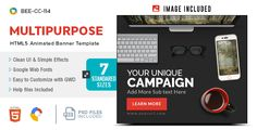 nice HTML5 Multi Goal Banners - GWD - 7 Sizes(BEE-CC-114) (Ad Templates)
