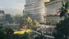 Vaishnavi Viridian Architecture Visualization, Architecture Design, Mental Health And Wellbeing, Sense Of Place, Public Garden, Ecology, Habitats, Garden Design, Landscape