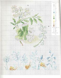 Gallery.ru / Фото #23 - Вышивка 108 - kuritsa-kusturitsa Small Cross Stitch, Just Cross Stitch, Cross Stitch Flowers, Cross Stitching, Cross Stitch Embroidery, Cross Stitch Patterns, Flower Chart, Cross Stitch Boards, Sewing Art