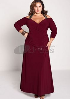Plus Size Evening Dresses-plus size evening dress Gabrielle Gown in Burgundy