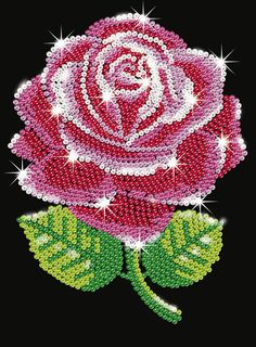 Embroidery Jewelry - How to Make Blue Seed Bead Embroidery Rose Bangle Bracelets - Slideit. Rose Embroidery, Embroidery Jewelry, Embroidery Patterns, Button Art, Button Crafts, Bead Crafts, Arts And Crafts, Sequin Crafts, Rose Crafts