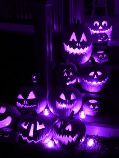 Purple Pumpkin Lights lights animated candle gif pumpkin halloween halloween pics