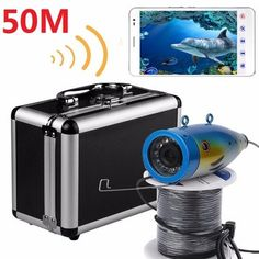 ENNIO Wireless 50M Underwater Fishing Waterproof HD 1000TVL Camera 2.4G WiFi Video Recorder APP View