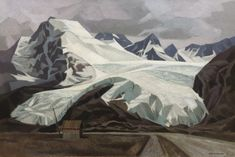 Alan Collier - Land of Ice Masses 24 x 36 Oil on canvas Dutch Artists, Landing, Oil On Canvas, Contemporary Art, Ice, Ice Cream, Modern Art, Contemporary Artwork