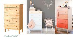 15 ideas geniales para transformar muebles de Ikea.   #decoración #creatividad #Ikea