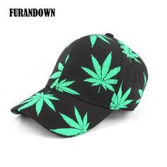 Leaf Print Baseball Cap Men Women Casual Golf ponytail Cap casquette  Baseball Hat Gorras Snapback Hats 66cfdd3e44f