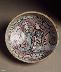 Decorated bowl, ceramic, Orvieto manufacture. Italy, 14th century.