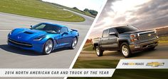 It almost hurts looking this good. Congrats to the 2014 #Corvette #Stingray and the all-new 2014 #Silverado for the North American Car and Truck of the Year!