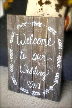 Rustic Wooden Wedding Sign XL Sign Wooden by ThePaperWalrus, $89.99