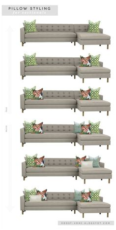 Pillow styling for sofas and sectionals, via roost | marissa waddell interiors.