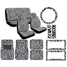 12-Piece Animal Print Automotive Interior Gift Set - 2 Universal-Fit Zebra Bl... BDK http://www.amazon.com/dp/B002XRODX8/ref=cm_sw_r_pi_dp_K0lSub0DC9459