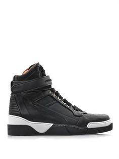 GIVENCHY - Leather high top trainers · Givenchy SneakersLeather High TopsBlack  LeatherShoe GameMen ...