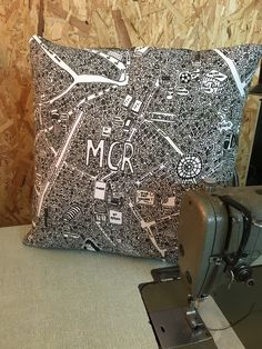 ManchesterDoodle Map Cushion - £35
