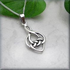 Celtic Love Knot Necklace Irish Jewelry Heart by BonnyJewelry, $20.00