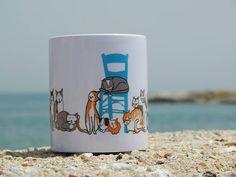 Ceramic Mug Greek Cats