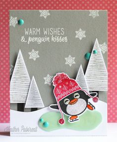 Witty Title Here: Clearly Whimsy Stamps - Warm Wishes and Penguin Kisses...
