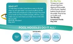 """Parents Magazine, """"It Worked For Me,"""" Pool Noodles Do It All, October 2011, Page 4."""